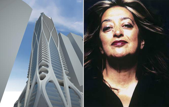 Rendering for One Thousand Museum and Zaha Hadid