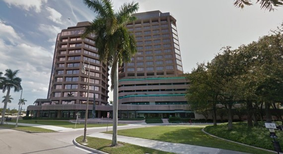 The Phillips Point office towers in West Palm Beach