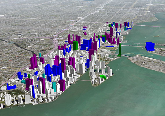Check out this interactive map of downtown Miami's skyline - on