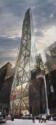 A rendering of Hines' MoMa tower