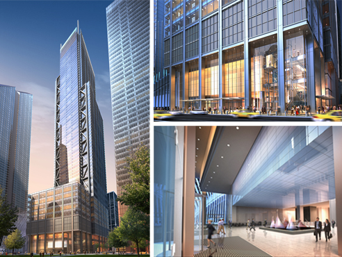 Renderings of 3 World Trade