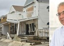 From left: Storm-damaged homes and Ron Moelis of L+M