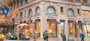 The retail at the St. Regis, top, sold for $380.6 million