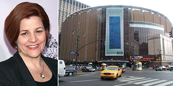 From left: Christine Quinn and Madison Square Garden