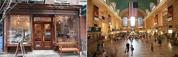 From left: Cafe Grumpy and Grand Central