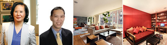 From left: Carrie Chiang, Richard Phan, 157 East 84th Street