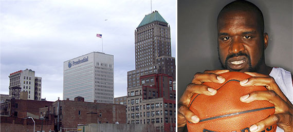 Downtown Newark and Shaquille O' Neal