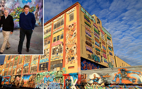 From left: Jerry Wolkoff, David Wolkoff and 5Pointz