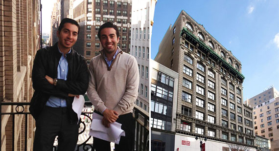 From left: Jack Srour, Juda Srour and 31 West 34th Street