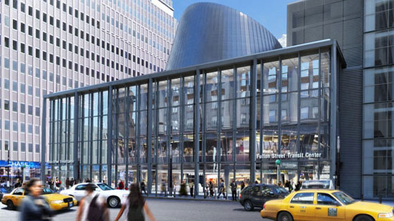 Rendering of the revamped Fulton Center