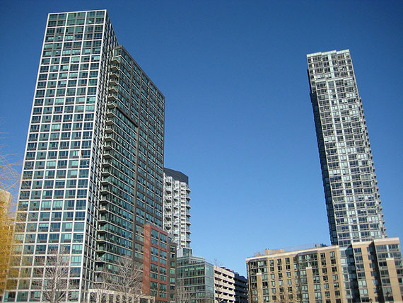 Glass towers lining the Long Island City waterfront (Credit: spyguise via flickr)