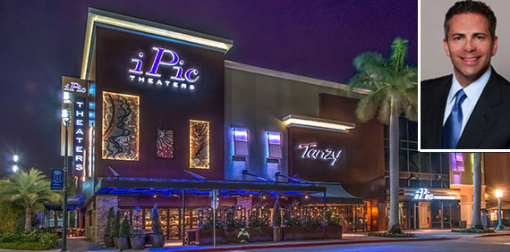A rendering of the IPic theater and Howard Hughes CEO David Weinreb (inset)