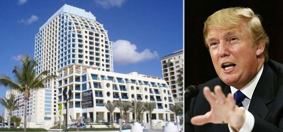 From let: Trump International Hotel and Tower in Ft. Lauderdale and Donald Trump