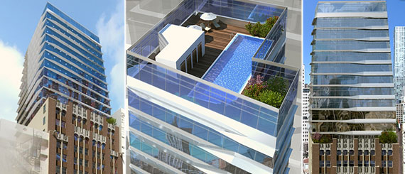 Renderings of 17 John Street