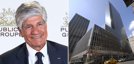 From left: Publicis' Maurice Lévy and 1 Penn Plaza