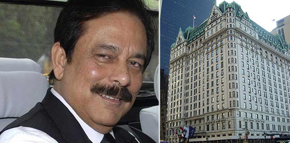 From left: Subrata Roy and 1 Central Park South