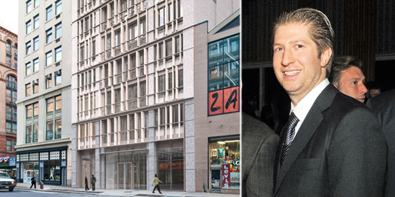 Madison President Brian Shatz and a rendering of 688 Broadway