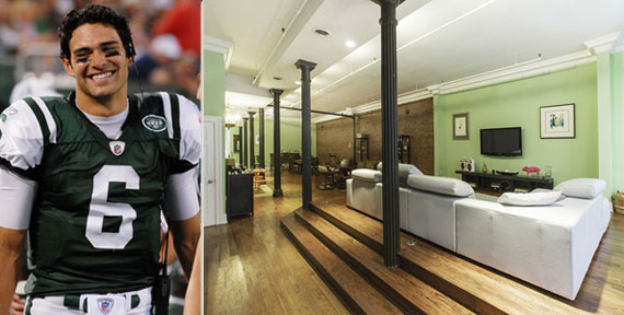 Mark Sanchez and the apartment at 84 Thomas Street