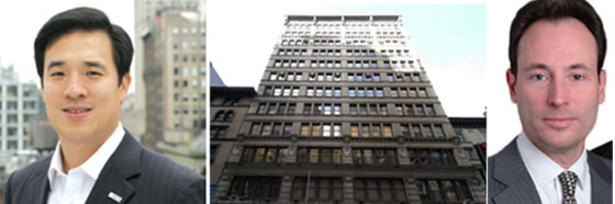 From left: Walnut Hill's Stephen Yang, 31 West 27th Street and Woody Heller