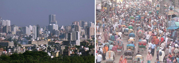 Dhaka, which houses an estimated 15 million people