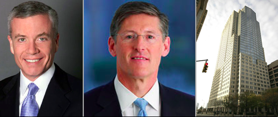 From left: Chief executive of Cushman Edward Forst, chief executive of Citigroup Michael Corbat and 388 Greenwich Street