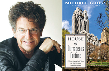 Michael Gross and the cover of his new book