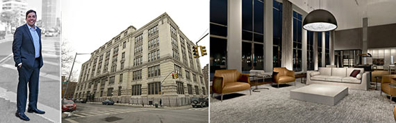 From left: Modern Spaces CEO Eric Benaim and 371 Madison Street interior and exterior