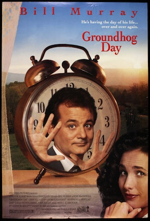 groundhog day movie poster 300x441