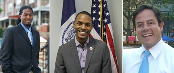 From Left: Council Members Jumaane Williams, Ritchie Torres and Daniel Garodnick