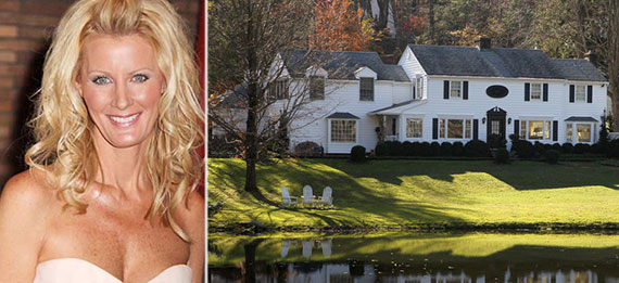From left: Sandra Lee and 4 Bittersweet Lane in New Castle, Westchester County