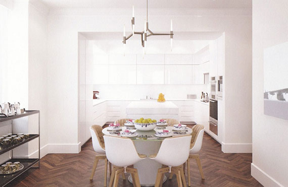 Rendering of a dining room at 17 East 12th Street