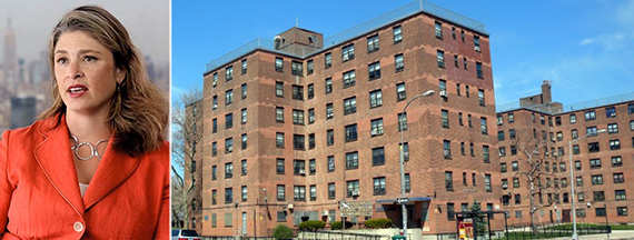 From left: Alicia Glen and New York City Housing Authority developments
