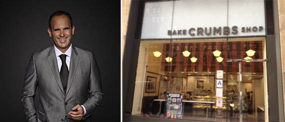 From left: Marcus Lemonis and Crumbs Bake Shop