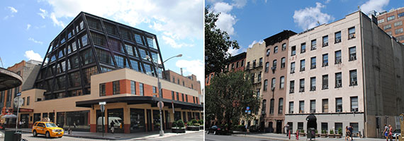 From left: 837 Washington Street and 809
