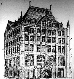 An illustration of the Church Missions House (Credit: Daytonian in Manhattan)