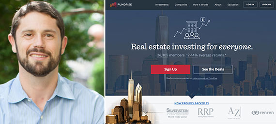 Fundrise CEO Benjamin Miller and the crowdfunding company's website