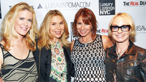 Guests with Jill Zarin (second from right)