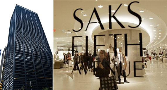 From left: One Liberty Plaza and Saks Fifth Avenue