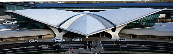 The Eero Saarinen-designed TWA terminal at JFK airport