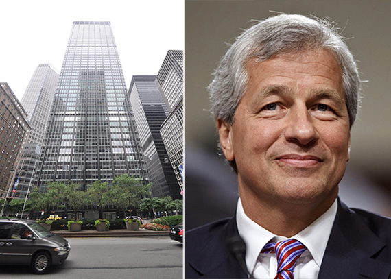 From left: 270 Park Avenue and Jamie Dimon