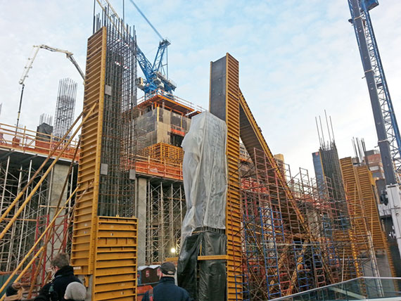Work at Hudson Yards, where Related hired a nonunion contractor to oversee construction