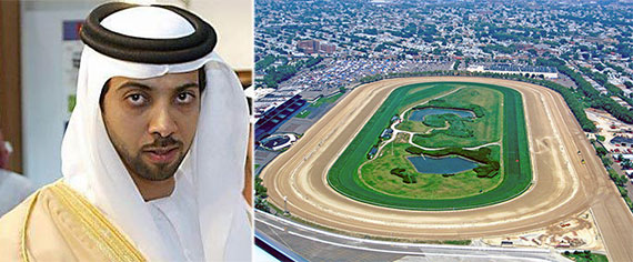 From left: Sheikh Mansour bin Zayed al-Nahyan and Aqueduct Racetrack