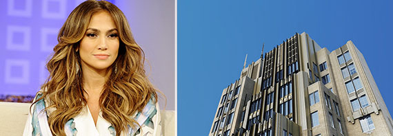 From left: Jennifer Lopez and the Walker Tower