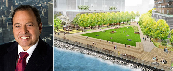 From left: Douglas Durst and Hallets Point rendering