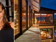 From left, Donna Karan, part of her Caribbean compound