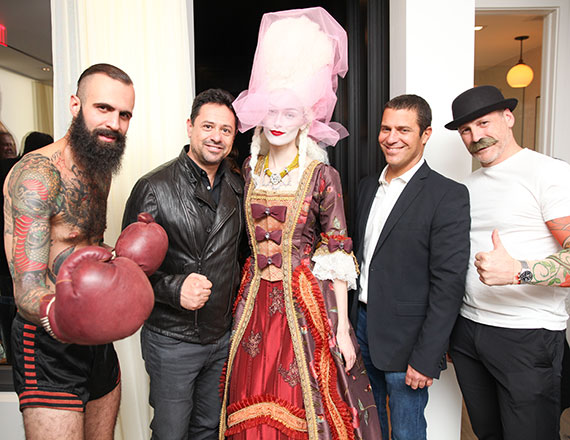 ODA's Eran Chen and IGI CEO Eldad Blaustein with characters from 15 Renwick