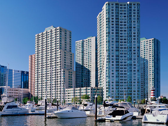 Jersey City's waterfront Newport area is a popular spot for real estate investors from India