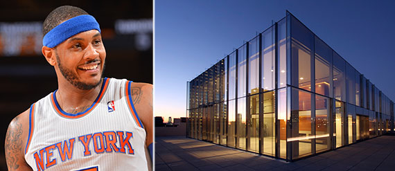 From left: Carmelo Anthony and 145 Hudson Street