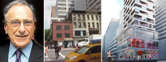 From left: Harry Macklowe, 985-989 Third Avenue and renderings for the development site