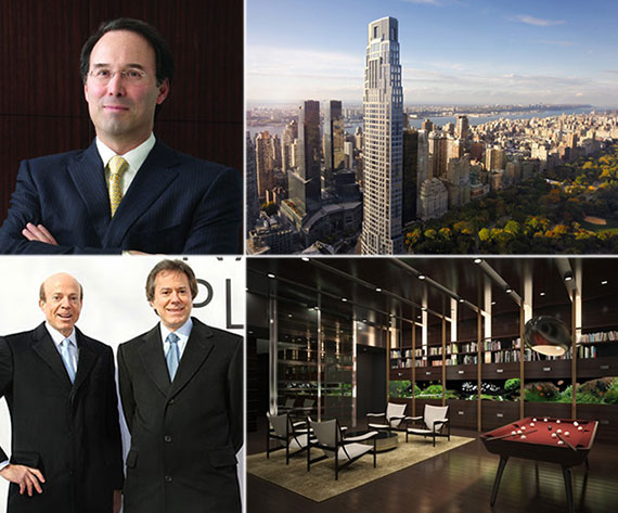 Clockwise from left: Gary Barnett, 220 Central Park South, rendering of a unit inside One57 and Arthur and William Zeckendorf